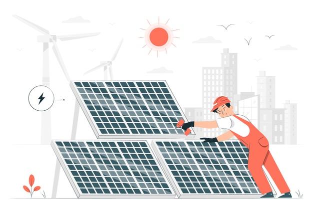 Déménagement panneaux solaires