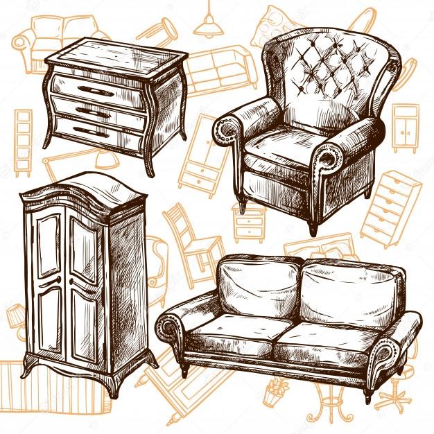 Déménagement de vieux meubles